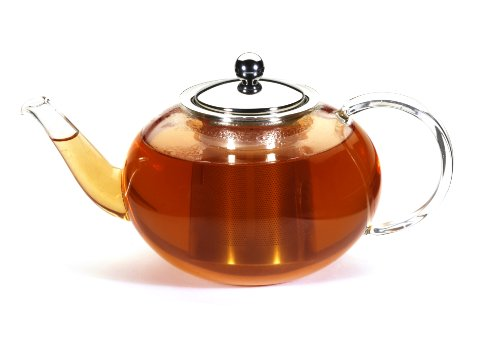 GROSCHE Joliette Hand Blown Glass Teapot with Removable Stainless Steel Infuser 1250 ml / 42 fl. oz.