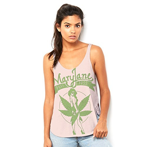 Twisted Envy Women's Mary Jane Puff Pass Scoop Neck, Flowy Tank with Side Slit with Unique Design X-Large Peach