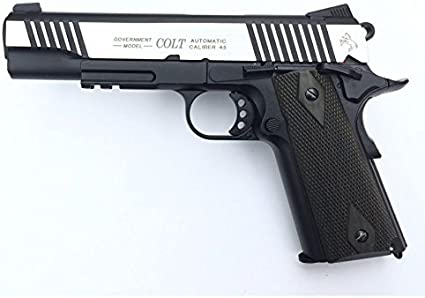 CyberGun-Airsoft-Colt 1911 Rail Gun Stainless Dual Tone Co2 blowback 180525 - Calibre 6mm. - 1.1 Julios de Potencia