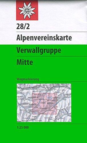 Verwallgruppe, Mitte: Wegmarkierung (Alpenvereinskarten)