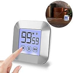 Professional Kitchen Timer Digital Cooking Timer with Backlight Magnetic Back Large Display Loud Alarm
