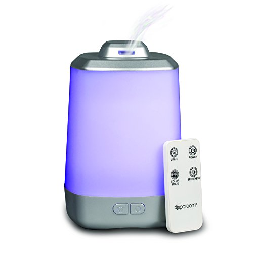 SpaRoom AromaDelight Ultrasonic Essential Oil Diffuser and Fragrance Cool Mister With Remote Control and LED Light Show