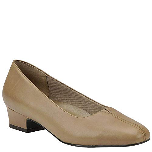Trotters Womens Doris Leather Closed Toe Classic Pumps, Taupe, Size 9.5