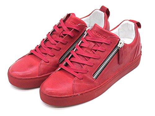 Crime London - Zapatillas de Piel para hombre rojo rojo