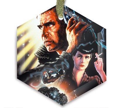 Movie Poster 47 - Blade Runner Christmas Ornament & Sun Catcher by HA Homes