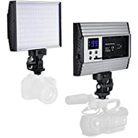 Video Lighting Zecti 144 LED Dimmable LED Camera Light, 3200-5600K,1500LM,LCD,15W Camcorder Video Lighting for Canon, Nikon, Pentax, Panasonic,Sony, Samsung and Olympus Digital SLR Cameras