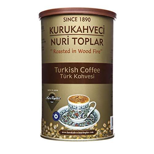 Kurukahveci Nuri Toplar's Café Turco Otomano Tradicional. Café molido 250 Gram Can