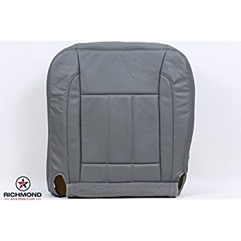 2006-2009 Dodge Ram 2500 3500 Quad-Cab Laramie Driver Side Bottom Replacement Leather Seat Cover, Gray