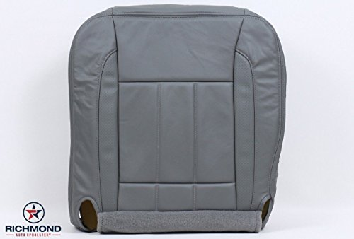 2006-2009 Dodge Ram 2500 3500 Quad-Cab Laramie Driver Side Bottom Replacement Leather Seat Cover, Grey ()