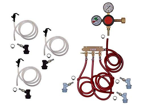 (3 Keg Basic Keg Kit, Premium Kit, Ball Lock by Kegconnection)