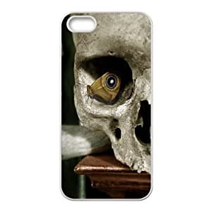 Evekiss Butterfly IPhone 5,5S Case Butterfly in a Skull Cheap for Girls, Iphone 5s Cases for Men, {White}