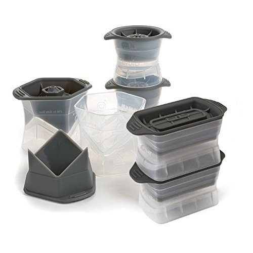 Tovolo Ice Molds Combo, Set of Two (2) Colossal Cubes, Set of Two (2) Highball Molds, and Set of Two (2) Sphere Molds ()