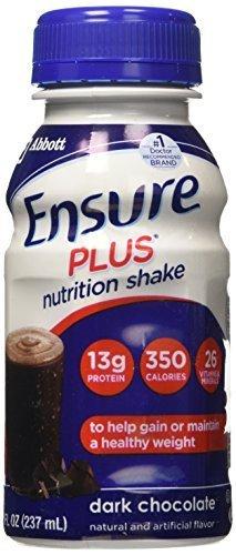Ensure Plus Rich Dark Chocolate Shake, Six 8-Ounce Bottles (Pack of 4) by Ensure