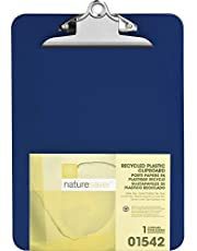 Nature Saver Recycled Clipboard -1-Inch Capacity -8.50-Inch x12-Inch -Heavy Duty -Plastic -Blue