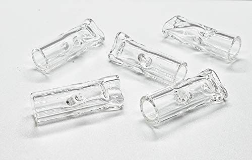 Premium Quality Glass Filter Tips, 10mm Fatty, Bomb Tips Packs of 5 Clear