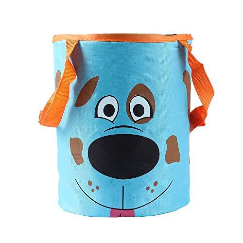 (Storage Baskets - 1 Pcs Fashion Car Portable Foldable Large Capacity Trash Can Garbage Bag Storage Bucket Cute Dog - Animal Narrow Unit Seagrass Color Decorative Label Galvanized Sink Knit Pan)