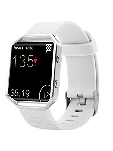 Newest Fitbit Blaze Band, BeneStellar Silicone Replacement Small Large Band Bracelet Strap for Fitbit Blaze Smart Fitness Watch, White, Small