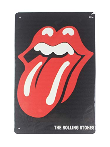 WholesaleSarong Rolling Stone Tongue Lip tin Metal Sign Home Interior Design Metal Restaurant Pub Wall Art
