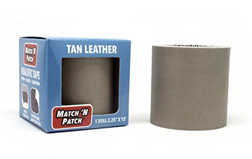 Match 'N Patch Tan Leather Repair - 15' Red Patch