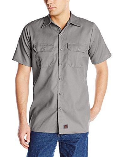 Red Kap Men's Utility Uniform Shirt, Silver, Medium