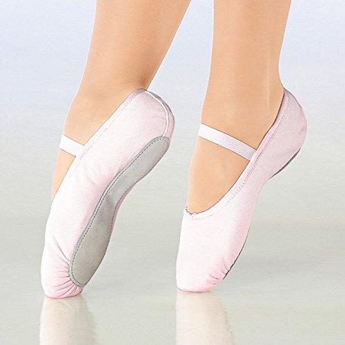 So Danca Kinder Ballettschläppchen Leinen, Weite M White