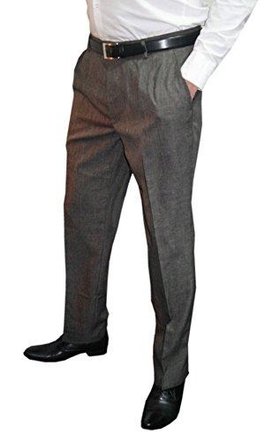 Pantaloni Fashion Da Straight Uomo brown Mens Grey Abito ZT1wqq