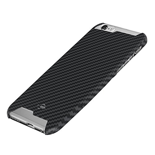 CORNMI T-Carbon for iPhone 6/6S Handmade Article Ultra Thin Luxury Pure Carbon Fiber Case for iPhone 6 Cove + Tempered Glass Screen Protector With Gif…