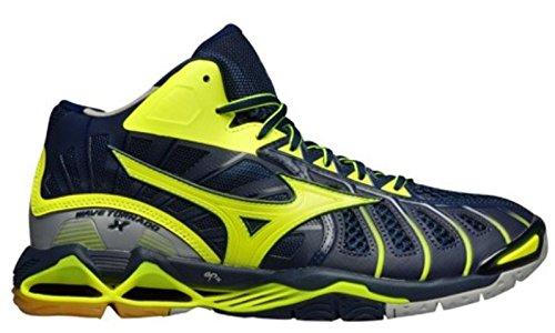 Mizuno Wave Tornado X Mid geel indoor schoenen heren (V1GA1617-47)