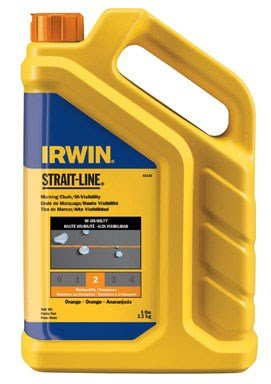 (IRWIN Tools STRAIT-LINE Standard Marking Chalk, 5-pound, Fluorescent Orange (65105) )