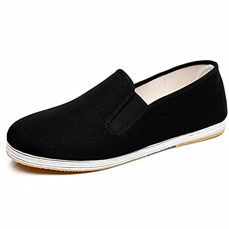 LvYuan Hommes Chaussures Tissu Traditionnel Chinois / rétro Casual Breathable Square Bouche / Kung Fu Chaussures / Arts Martiaux / Tai Chi Chaussures / chaussures melaleuca faits à la main QianCengDi
