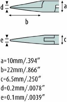 court/és et lisse 4217 HS 22 schmitz ESD pince /à becs rond 130mm pointe pr/écision becs droit