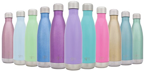 Spring Royal Water - Simple Modern Stainless Steel Vacuum Insulated Double-Walled Wave Bottle, 17oz - Royal Raspberry
