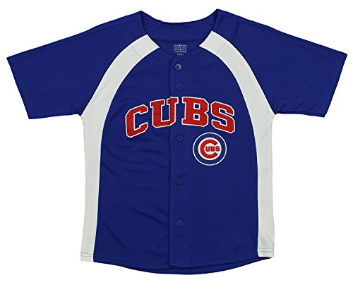 (Outerstuff MLB Youth Boys Blank Baseball Jersey, Various Teams (Chicago Cubs, Small (8)))