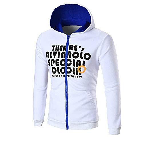 Taille avec lettre 3xluk Cn Blanc Blanc pour 16 Sweat hommes longues manches Zhrui à couleur X47qvwnI