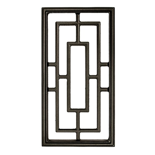 (Nuvo Iron Rectangle Decorative Insert for Fencing, Gates, Doors, Home, Garden 17