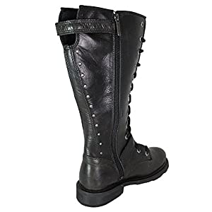"Harley-Davidson Womens Jill 13"" Motorcycle Boot Black Leather D83721 6.5"