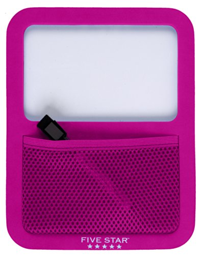 Five Star Locker Accessories, Locker Dry Erase Board with Storage Pocket, Magnetic, Berry Pink/Purple (72594) by Five Star