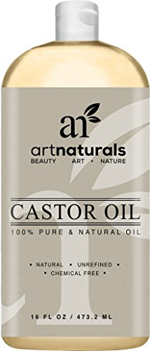 Art Naturals 100% Pure Castor Oil 16 oz - Best Massage Oil & Moisturizer for Hair and Skin (Castor Massage Oil)