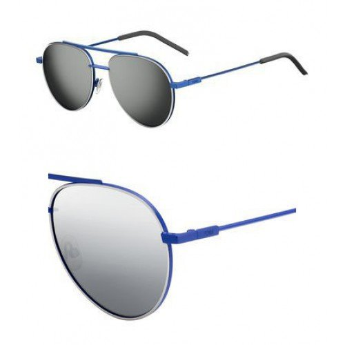 Fendi 0222/S PJP Blue with (T4) Black Mirror Lenses 56MM