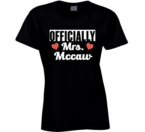 Officially Mrs McCaw Just Married Funny Wife T Shirt 2XL Black