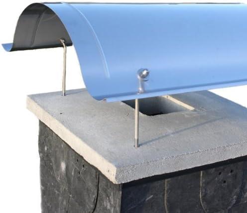 Edelstahl Kaminabdeckung massiv 57 x 57 cm inkl Befestigungsmaterial Schornstein Kaminhaube mit starken Kaminhauben-Halter f/ür besonders hohe Stabilit/ät Kamin Haube aus rostfreiem V2A