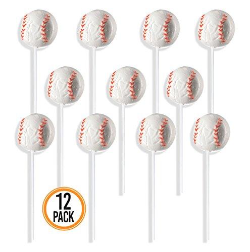 - Prextex Baseball Lollipops - Kids Sports Ball Suckers for Birthday, Sports Event or Baseball Party Favor - Pack of 12 (1 Dozen)