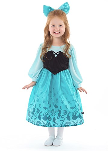 Little Adventures Mermaid Day Dress Costume for Girls - Large (5-7 Yrs)