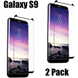 Galaxy S9 Screen Protector [2 Pack], Amazingforless Tempered Glass Screen Protector 3D Full Coverage Curved Protectors for Samsung Galaxy S9
