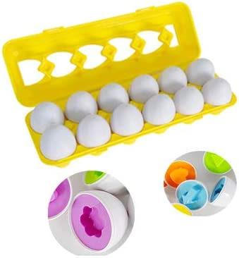 SQUEAKING EGGS Shape Sorter Learn /& Play BABY Toddler Activity TOY Easter Gift