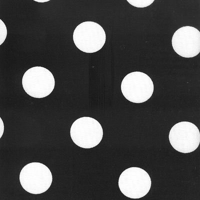 54'' Polka Dot Black/White Indoor Outdoor Fabric By The (Black And White Polka Dot Fabric)