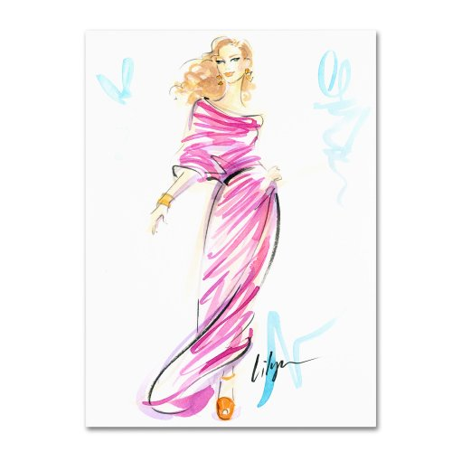 Raspberry Swirl Artwork by Jennifer Lilya, 35 by 47-Inch Canvas Wall Art