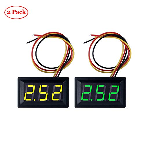 Oak-Pine 2PACK Voltmeter DC 0-100V 0.56 Inch 3 Wire, used for sale  Delivered anywhere in USA