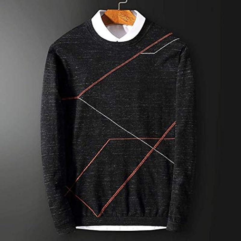 Saoye Fashion męski sweter luźny długi rękaw okrągły dekolt sweter sukienka sweter z dzianiny wiosna jesień sweter dziergany: Odzież