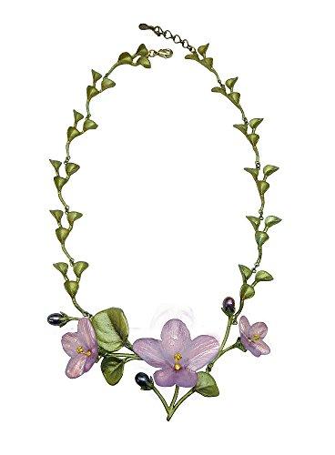 Michael Michaud African Violet Contour Necklace 8927
